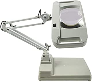 PAYOFF 10X Magnifier LED Lamp Light Magnifying White Glass Lens Desk Table Repair