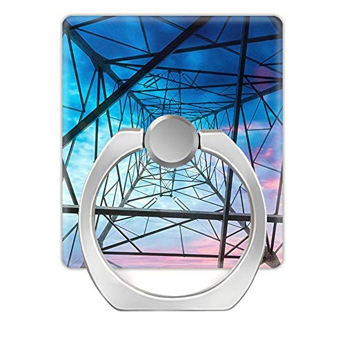 NSNNS (2pack) Universal Phone Holder, Finger Ring Holder Grip,360 degrés de rotation en métal Ring Finger Grip, Square finger ring,Electricity Power Pylon