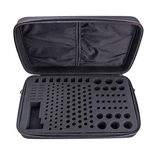 Exuberanter Batterie Aufbewahrungsbox, Tragbare Wasserdicht Stoßfeste Batteriebox Aufbewahrung- Hält 148 Batterien AA AAA C D 9V - Mit Batterietester BT-168, 43X27X8,8CM
