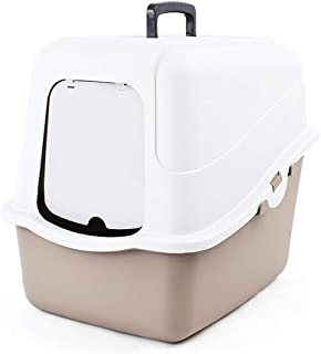 Cat Litter Box, Easy Clean Fully Enclosed Cat Toilet Indoor Pet Crate Isolate The Smell