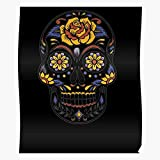 Sugar México Skull Mayo Mexican Cinco De Skulls Halloween aterrador decoración del hogar Wall Art Poster