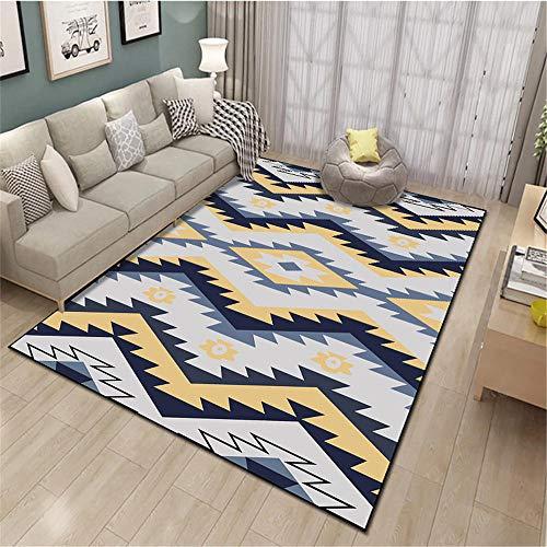 alfombra despacho alfombras juveniles para dormitorio Alfombra rectangular para dormitorio, decoración moderna para sala de estar, antideslizante, lavable a máquina bases antideslizantes para alfombra