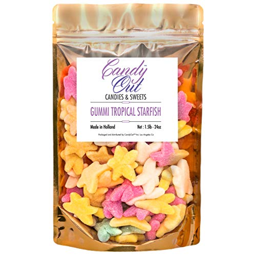 CandyOut Tropical Starfish Gummy Candy 1.5 Pound