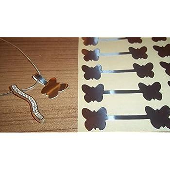 150 argento a forma di farfalla per etichette-Price-Adesivi decorativi a forma di etichette e manubrio