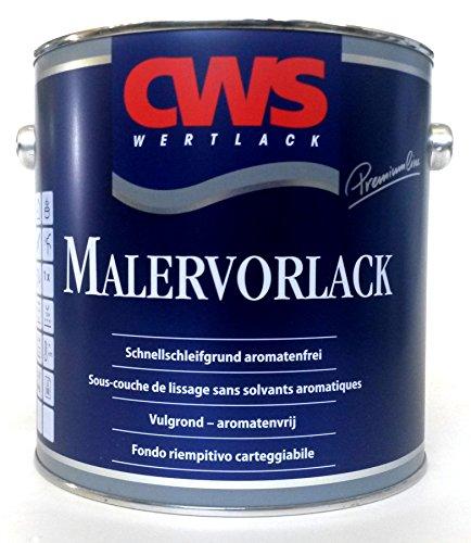 CWS Malervorlack weiss matt, 2,5L - Matter, aromatenfreier Schnellschleifgrund (Vorstrichfarbe) auf Alkydharz-Basis für Innen und Aussen.