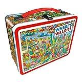 Aquarius Finding Waldo Dinosaur tin Storage Box, Multicolor