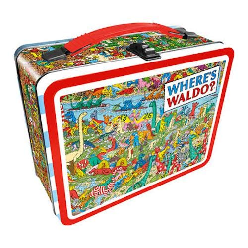 Aquarius Finding Waldo Dinosaur tin Storage Box, Multicolor