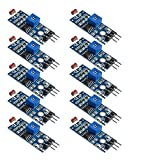 DollaTek Fotoresistenza 10Pcs Modulo sensore di intensità della Luce Digitale Fotoresistenza per Arduino Uno
