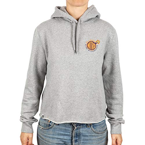 Nitro Snowboards Damen Girl Talk Hoodie Kapuzenpullover, Grau (Heather Geay Heather Geay), Small
