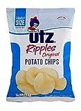 Utz Ripples Original Potato Chips 9.5 oz. Family Size Bag (3 Bags)