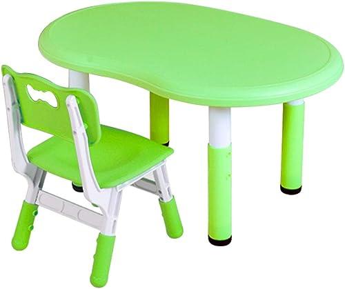 moda clasica Mesa de Estudio para Niños Mesa Mesa Mesa de Juego Infantil multifunción Silla Mesa de Juguetes de Uso doméstico elevable projoección de Seguridad y Salud (Color   verde)  descuento de ventas