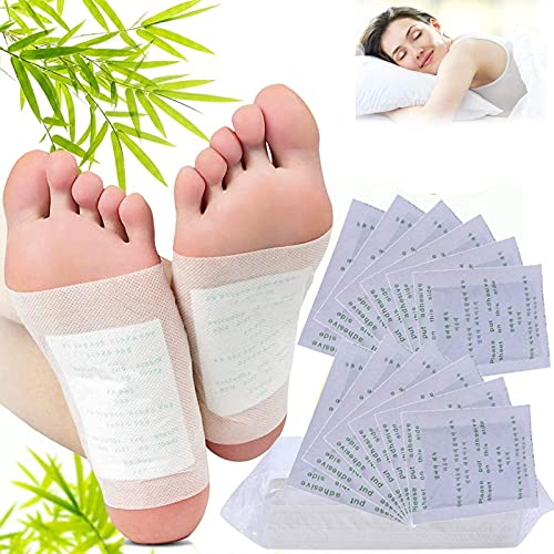 JGHJ Foot Pads, Natural Cleansing Foot Pads for Foot Care, Improves Sleep Quality, Relieves Stress and Fatigue, Remove Body Toxins and Odor