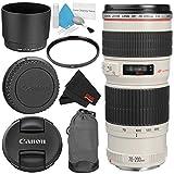 Canon EF 70-200mm f/4L USM Telephoto Zoom Lens Bundle for Canon SLR Digital Cameras Intl Model - Starter