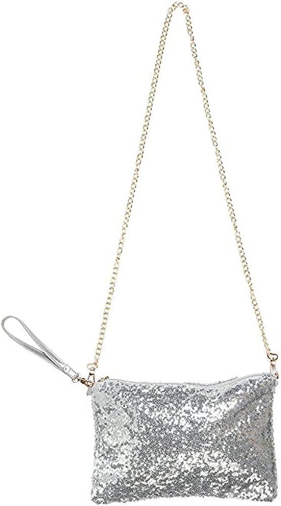 Women Sparkly Ranking TOP12 Sequins Crossbody Bag Popular popular Purse Clutch Shiny Wristlet