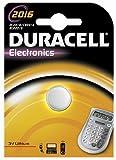 Duracell CR 2016 Litio 3V batería no-Recargable - Pilas (Litio, Botón/Moneda, 3 V, 1 Pieza(s), CR2016, Plata)