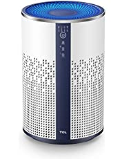 TCL Air Purifier for Home Room Bedroom True H13 HEPA Air Filter Remove 99.97% Smoke Odor Pet Dander Dust Pollen Mold up to 322 sq ft Air Cleaner Metal Design with Night Light, Available for California
