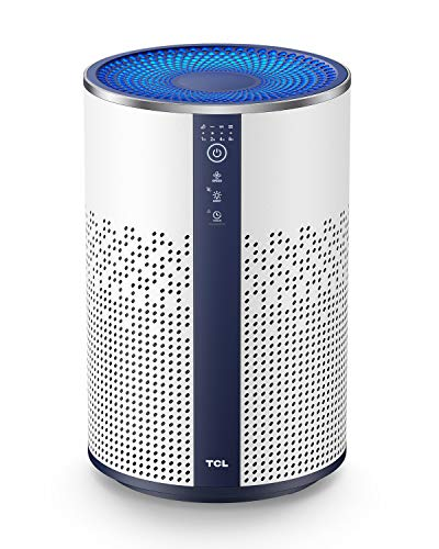 TCL BREEVA A1 Air Purifier for Home with True HEPA H13 Filter, Air Cleaner Captures Smoke Dust Pet Dander, Quiet in Bedroom Kitchen Bathroom with Ambient Light