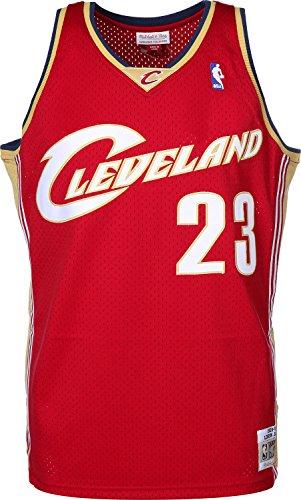 Mitchell & Ness LeBron James #23 Cleveland Cavaliers 2003-04 Swingman NBA Trikot Rot, XL