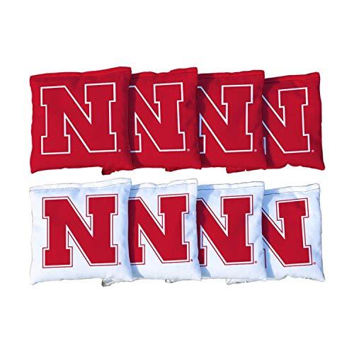 Victory Tailgate NCAA Collegiate Regulation Cornhole Game Bag Set (8 Bags Included, Corn-Filled) - Nebraska Cornhuskers