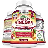 Premium Apple Cider Vinegar Pills Max 1740mg with Mother - 100% Natural & Raw with Cinnamon, Ginger & Cayenne Pepper - Ideal for Healthy Blood Sugar, Detox & Digestion-120 Vegan Capsules