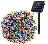 Luces de Navidad Solares Exterior, BrizLabs 22M 200 LED Cadena de Luces Colores 8 Modos Impermeable Guirnalda Luces Decoración para Arboles de Navidad Fiesta Boda Patio Jardine Terraza