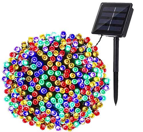 Solar Lichterkette Aussen, BrizLabs 22M 200 LED Solarlichterkette Bunt Weihnachten Außenlichterkette 8 Modi Wasserdicht Solar Beleuchtung für Bäume Garten Terrasse Yard Haus Hochzeit, Mehrfarbig