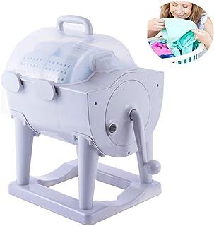 Bärbar tvättmaskin, icke-elektrisk manuell tvättmaskin med torktumlare, handvevad ekologisk mini-tvättmaskin, kompakt tvät...