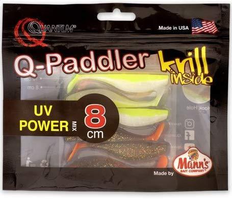 Quantum Q-Paddler Packs UV Power Mix, 3X Magic motoroil + 3X Citrus shad, 8 cm