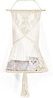 Macrame cat hammock bed-cat tree, dog bed, macrame wall hanging, cat bed, home decor, hammock chair, hanging chair, pet be...