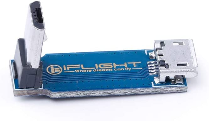 iFlight 90 Degrees Right Angle Micro USB Adapter Board  Extension Board