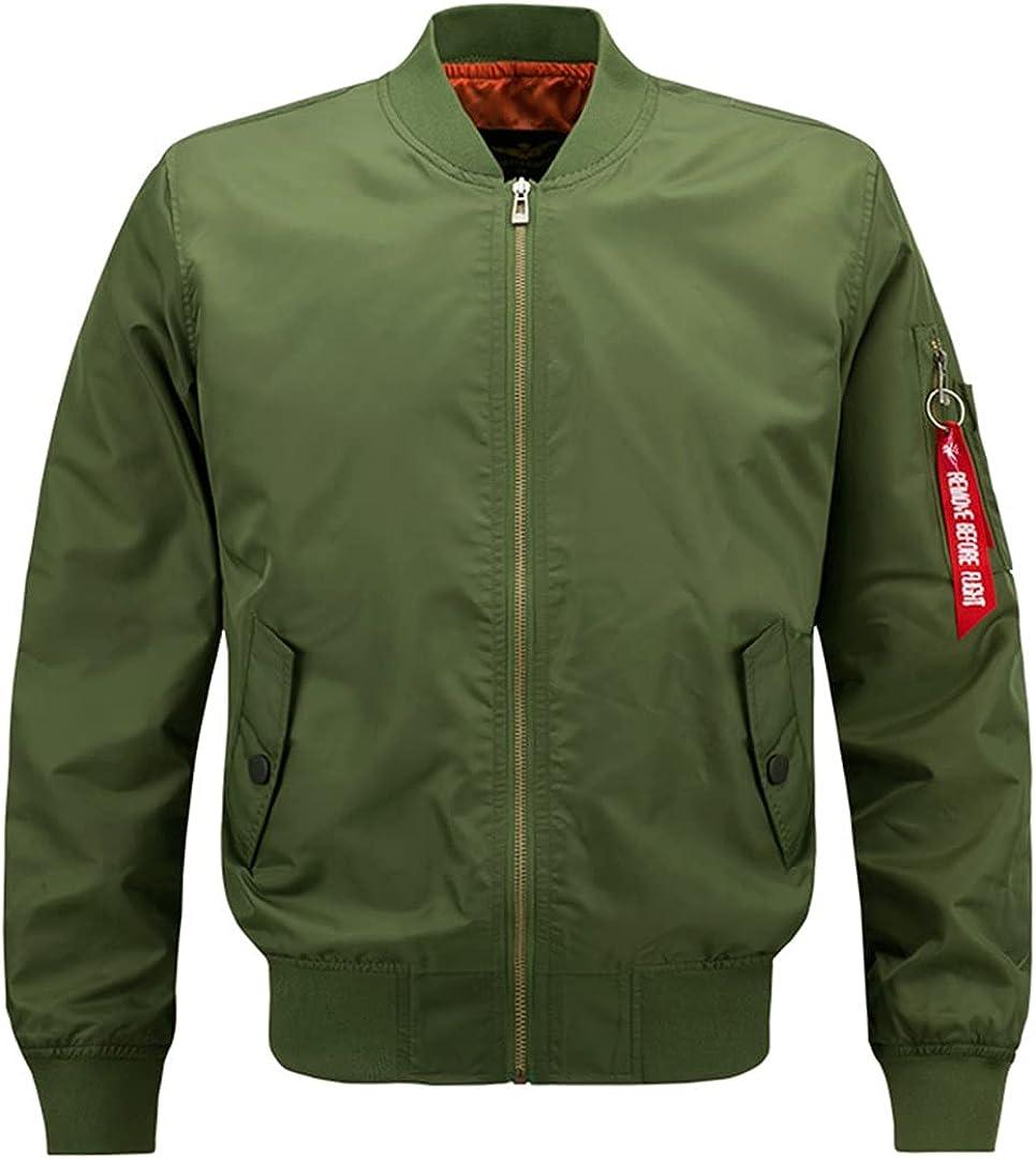 HEYDHSDC Men Women's Bomber Jacket Military Windbreaker Streetwear Baseball Coat