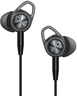 TaoTronics Active Noise Cancelling Headphones, Wired Earbuds in Ear Stereo Awareness Monitor Earphones with Microphone and Remote (15 Hours Playtime, 3.5mm Jack, Premium Aluminum Matte Black)