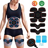 [2019 New upgrade] EMS Muscle Stimulator,Abs Trainer, Abdominal Toning Belts Muscle Toner Gym Workout And Home Fitness Apparatus for Men & Women, Extra 10 Gel Pads