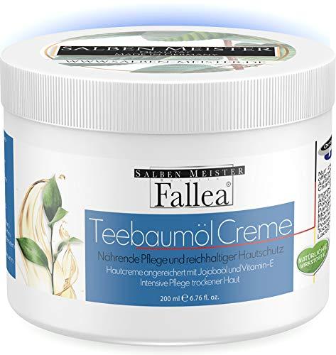 Fallea Teebaumöl Creme gegen Pickel Anti Akne Creme Cream Gegen Pickel Unreine Haut Erwachsene Akne-Behandlung Gel Pickel Entfernen Anti Pickel Creme (200 ml)