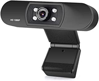 MiMoo 1080P HD Webcam 2 Megapixels with Microphone, PC Desktop Laptop USB Streaming Webcam with Rotation & Manual Focus fo...