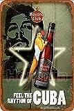 the Havana Club Decoración de pared de cartel de decoración de cartel de chapa de metal retro 20 * 30 cm