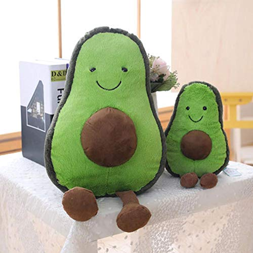XIAMUSUMMER Plüsch Avocado Puppe Cute Obst Gemüse Stofftier Plüschtier Kuscheltier, Plüsch-niedliches Kissen, Grün 22CM