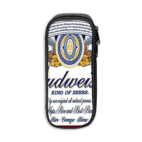 Budweiser Bier Logo Unisex Oxford Doek Potlood Case Office School Bureau Potlood Tas met Rits Eén maat Zwart