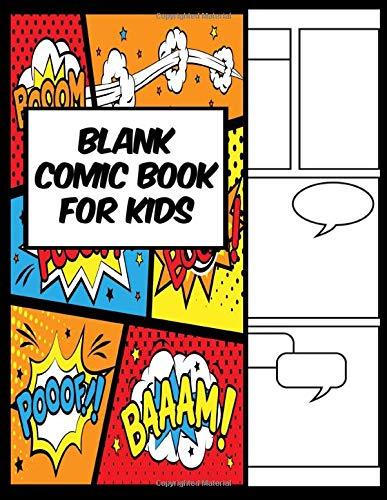 Blank Comic Book For Kids: Amazing Superhero (8) - Mom...