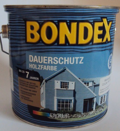 Bondex Dauerschutzfarbe, Hellocker 345, 2,25 Liter (3 x750 ml)