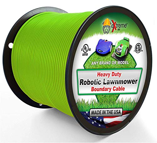 Extreme Consumer Products Universal Heavy Duty Automatic Lawnmower Boundary Wire - 500' 14 Gauge Thick Professional Grade Robotic Lawnmower Perimeter Wire Works with All Brands