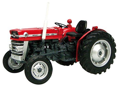 Universal Hobbies UH2785 Massey Ferguson 135 - Tractor sin Cabina (Escala 1:32), Color Rojo