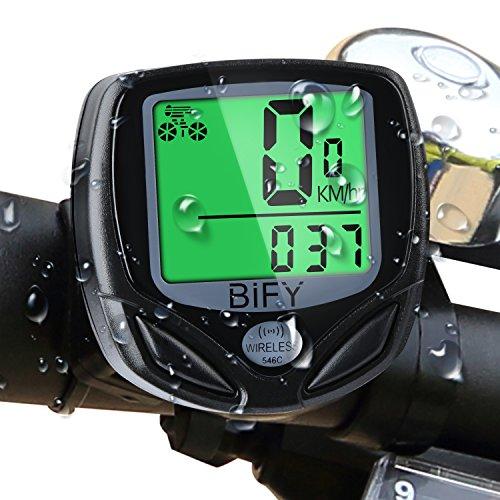 Fahrradcomputer(Wireless) Kabellos 16 Funktionen Wasserdichte LCD Geschwindigkeit Fahrradtacho Radcomputer Tacho, Schwarz (black)