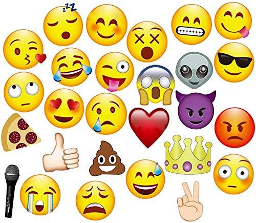 JZK 27 x Emoji Papier Foto Requisiten Verkleidung auf Stick Photobooth Photo Booth Props Set für Kinder & Erwachsene, Fotoaccessoires für Hochzeit Party Geburtstag Festival