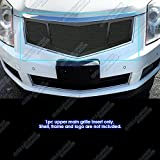 APS Compatible with 2010-2015 Cadillac SRX Stainless Steel Black Mesh Grille Insert A75928H