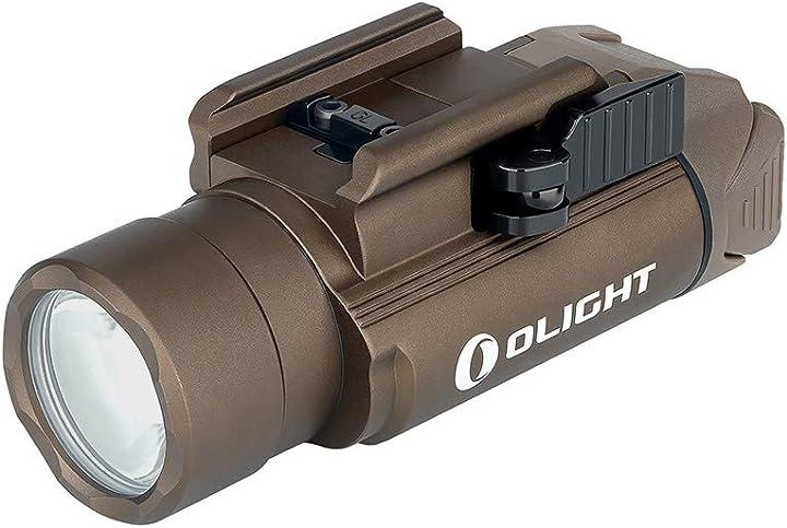 Torcia ricaricabile per pistola 1500 lumen, distanza max di luce fino al 280 m compatibile con mil-std-1913 B07RFLT57C