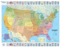 Michelin USA Political Map (Michelin Wall Maps)