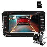 """Junsun 7"""" Touchscreen 2Din Navigazione Auto stereo auto intrattenimento multimediale W/FM/RDS Radio per VW/Volkswagen/Passat/Seat/Skoda - Mappa gratuita SD card"""