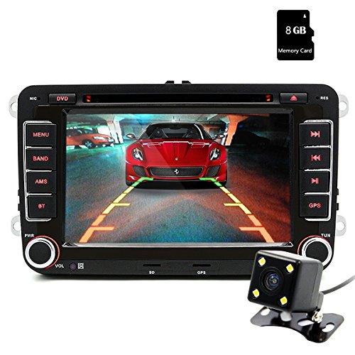 Junsun 17,8 cm (7 Zoll) Touchscreen 2Din Navigation Auto Stereo Multimedia-Unterhaltung W/FM/RDS Radio für VW/Volkswagen/Passat/Seat/Skoda – Kostenlose SD-Karte