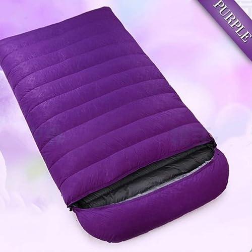 Shiduoli Sac de Couchage Ultra léger pour Camping, Voyage, équipement de randonnée-Camping (Couleur   violet, Taille   1000g)
